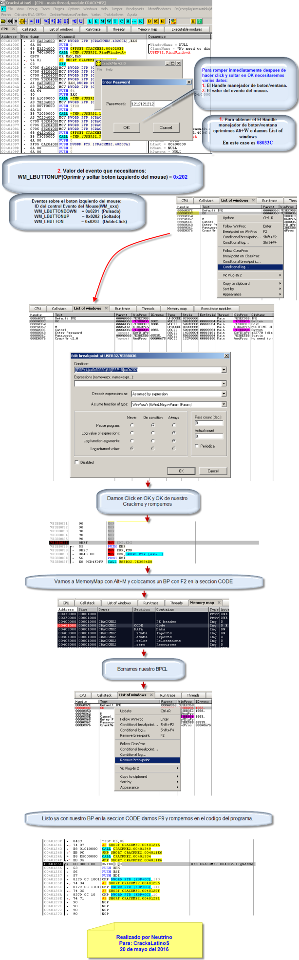 Tips y metodo sobre BreakPoint Condicional Log en Ollydbg2.01